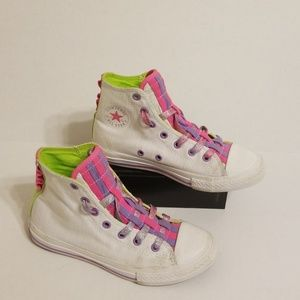Converse All Star hightop youth girl shoes size 2